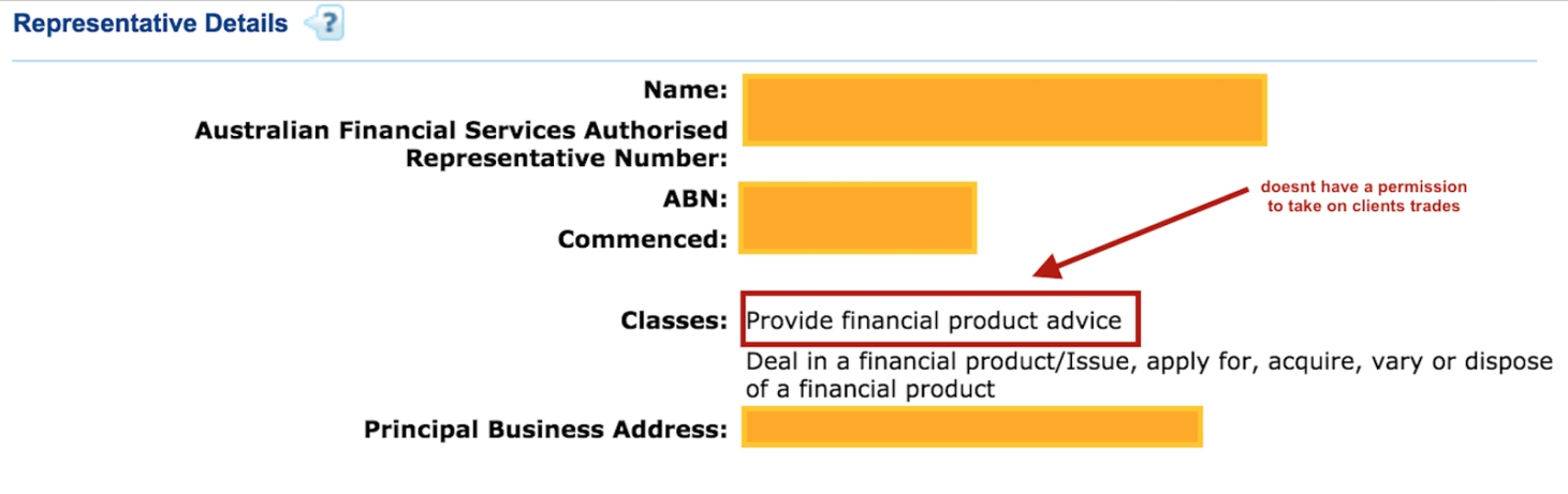 6 - Example 4 - Authorized representative authorized to provide advice for financial products.png